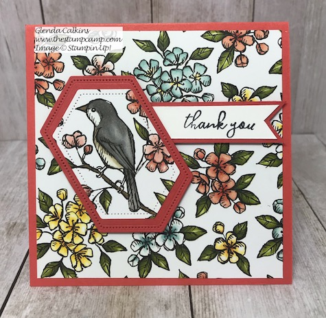 This is the Bird Ballad Designer Series paper and the coordinating Free As A Bird Bundle from Stampin' Up! Details on my blog here: https://wp.me/p59VWq-akh #stampinup #dies #freeasabird #thestampcamp