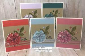 To A Wild Rose In All Five In Colors