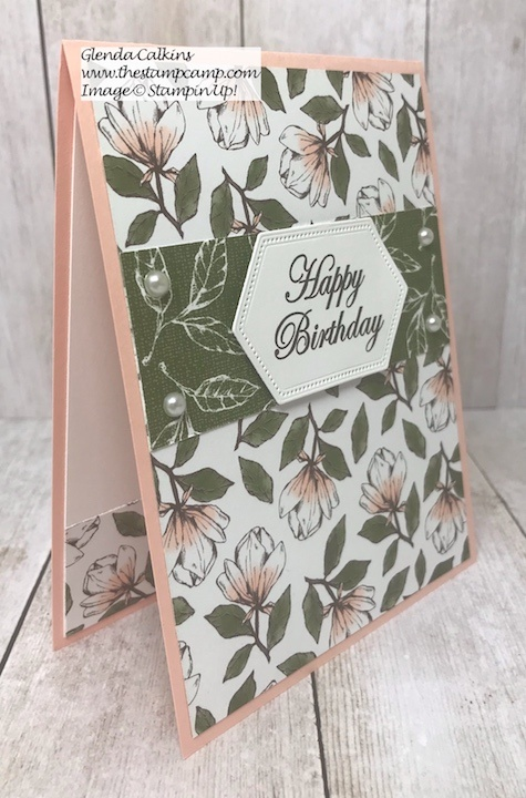 Magnolia Lane Designer Series Papers from Stampin' Up! Tuesday's Tip making the Stitched Nested Labels Dies Smaller. Details on my blog here: https://wp.me/p59VWq-ajM #stampinup #dies #thestampcamp #techniques