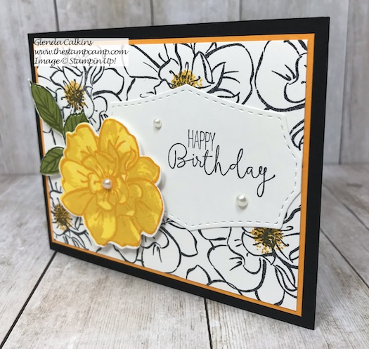Create your own background printed paper with the To a Wild Rose stamp set from Stampin' Up! Details on my blog here: https://wp.me/p59VWq-aj0 #stampinup #wildrose #thestampcamp #rose