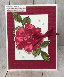 Wild Rose Gift Card Holder and a Card