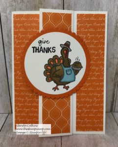 Stampin' Up! Birds of a Feather Turkey Time!