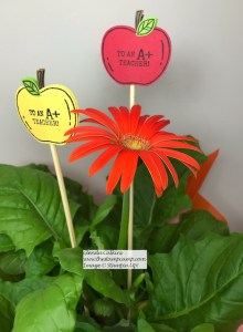 Harvest Hellos Plant Stake for Teacher!