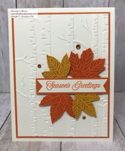 Gather Together with the Woodland Embossing Folder