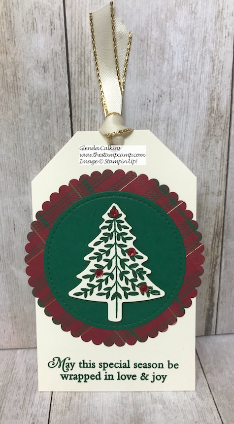 Perfectly Plaid Bundle is perfect for making Christmas Tags. Details on my blog here: https://wp.me/p59VWq-arf #tags #christmas #stampinup #thestampcamp