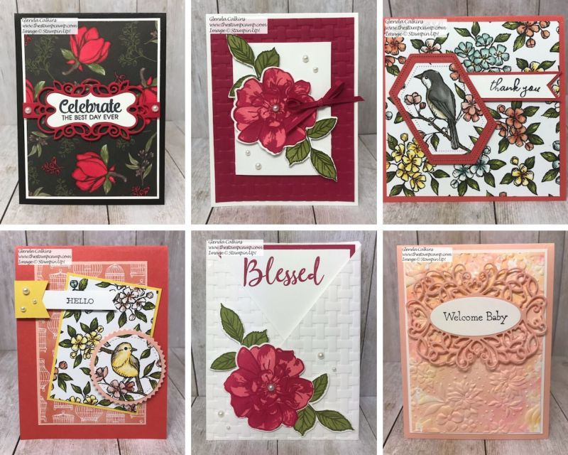 Stamp Sets from the Extravaganza Online Special. Just a few I have done using the special priced sets. Details on my blog here: https://wp.me/p59VWq-ayR #stampinup #thestampcamp #extravaganza