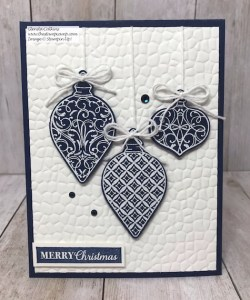 Gleaming Ornaments with Hammered Metal Folder