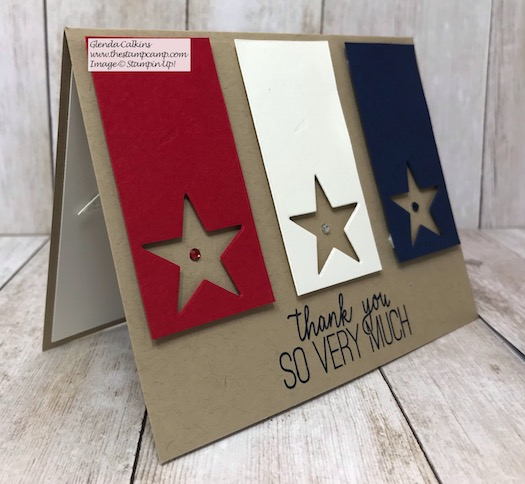 This card is a Thank You to all our Service Men and Women! Details on my blog here: https://wp.me/p59VWq-axo #stampinup #thestampcamp #veteran #military