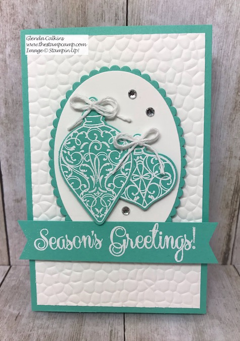 This is the Christmas Gleaming Bundle turned into a gorgeous Sticky Note Holder for anyones desk with coordinating Christmas card. Details can be found on my blog here: https://wp.me/p59VWq-aB2 #stampinup #thestampcamp #stickynote #christmas