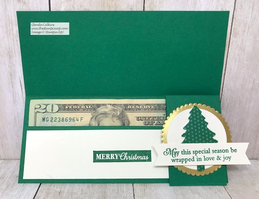 Need a quick gift idea? How about this adorable Money or Check Holder? Details on my blog here: https://wp.me/p59VWq-aCZ #stampinup #thestampcamp #handmadegift #moneyholder