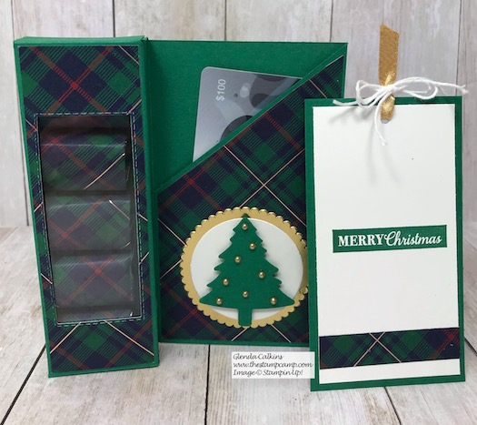 Christmas Gift Giving Idea #11. A box of Chocolates with a tag and place for a gift card. Details on my blog here: https://wp.me/p59VWq-aCs #stampinup #thestampcamp #christmas