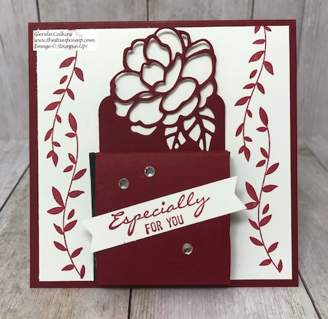Here is a sweet treat especially for you! I love the intricate dies that coordinate with the Botanical Bliss stamp set/bundle. You can create some beautiful cards and treat holders with them. Details on my blog here: https://wp.me/p59VWq-aDK #stampinup #thestampcamp #treatholder