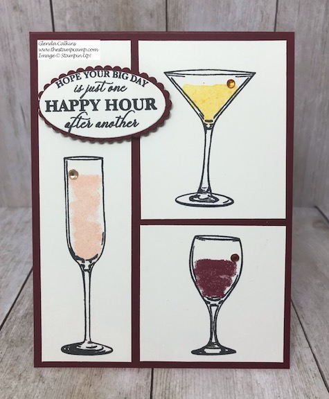 Cheers to the Bride and Groom! The Sip Sip Hooray stamp set is perfect for so many different occasions. Details on my blog here: #stampinup #brideandgroom #thestampcamp