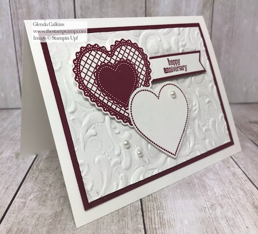 Heartfelt Bundle not just for Valentine's Cards or Projects. How about Anniversary or Wedding? Check out my blog here for details: https://wp.me/p59VWq-aIf #stampinup #heartfeltbundle #thestampcamp