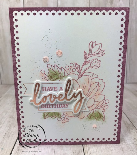 """These were the cards that you could make with the February Paper Pumpkin Kit """"A Lovely Day"""". Details for future kits are on my blog here: https://wp.me/p59VWq-aOl #stampinup #paperpumpkin #thestampcamp"""