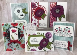 Peaceful Poppies Paired with Note Cards