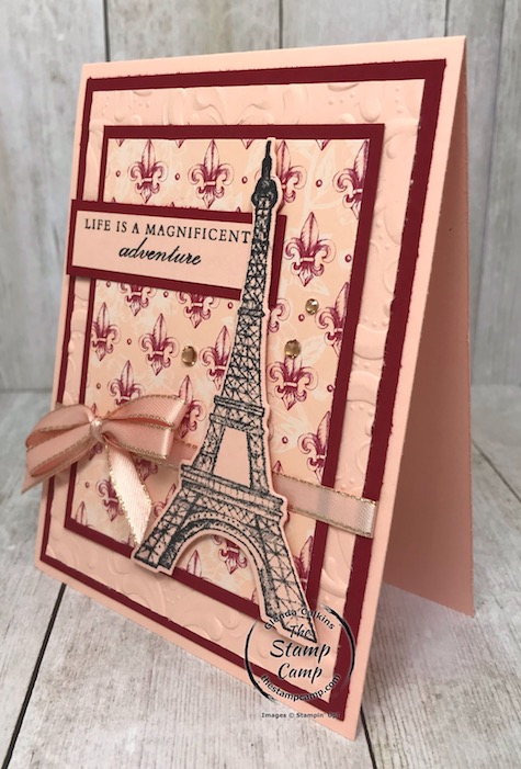 The Parisian Beauty Bundle is part of the Parisian Blossoms Suite of products found in the mini catalog. Details can be found on my blog here: https://wp.me/p59VWq-aQ0 #stampinup #parisianblossoms #parisianbeauty #thestampcamp
