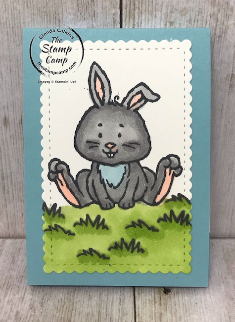 Welcome Easter Treat Holder super simple and will look great in the easter baskets. Details on my blog here: https://wp.me/p59VWq-aU8 #stampinup #easter #eastertreatholder #thestampcamp