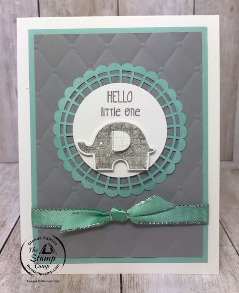 Which color little Elephant card do you like best? The little Elephant stamp set and coordinating punch is on the retiring list for June 2, 2020. Details are on my blog here: https://wp.me/p59VWq-aYq #thestampcamp #stampinup #littleelephant #baby
