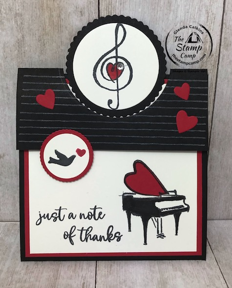 The Music From The Heart stamp set music to the eyes! Pair these musical images with any phrase to make a greeting card that sings with sincerity. This stamp set can be used all year long. Details are on my blog here: https://wp.me/p59VWq-aY1 #stampinup #music #thestampcamp
