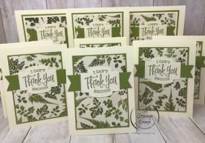 Pressed Petals Designer Paper Thank You Cards