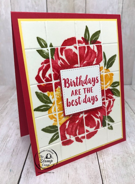 How about a fun and different technique using the Best Plaid Builder Dies? How about the Faux Tile technique. With the Best Plaid Builder dies you can create the perfect tiles every time. Details are on my blog here: https://wp.me/p59VWq-biz. #stampinup #thestampcamp #bestplaiddies #plaid