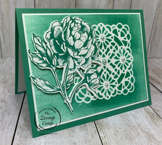 I'm back today with the prized peony bundle. This time I paired it with the square vellum doilies and have some tips and techniques using the doilies. See my blog post here: https://wp.me/p59VWq-bmU for the tips and techniques you can do with the square vellum doilies. #stampinup #thestampcamp #doilies #vellum #prizedpeony