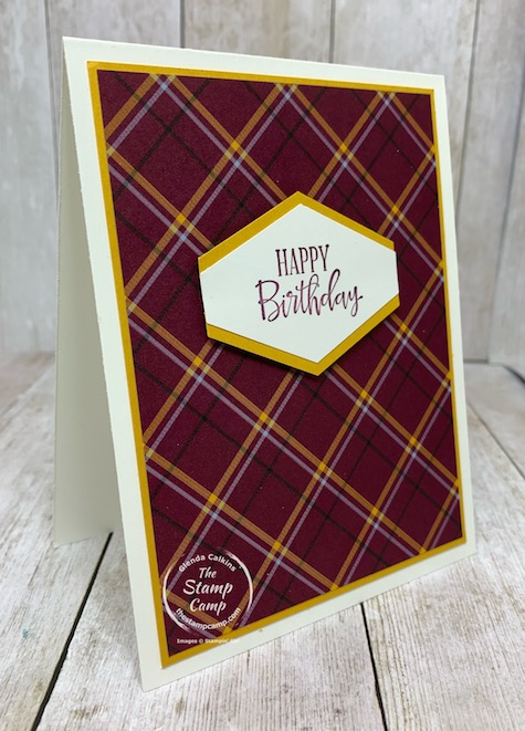 Have you checked out the New Mini Catalog from Stampin' Up! The August - December 2020 mini? You will find the Plaid Tidings Designer Series Paper pack in this mini and I do not think it is just for the Holidays; I'm thinking Masculine cards! Check out my blog here for details: https://wp.me/p59VWq-bo4. #stampinup #masculine #plaid #thestampcamp