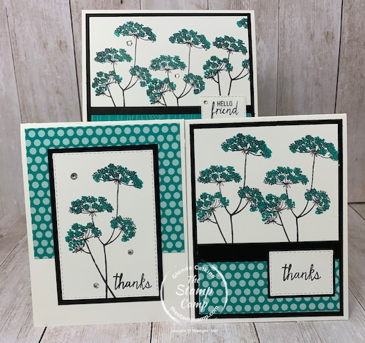 This is bonus card #2 for the Queen Anne's Lace stamp set which is part of my featured stamp sets for September.  It is a great set and you can get it for FREE in September 2020.  See my blog here for details: https://wp.me/p59VWq-bsB. #stampinup #queenanneslace #thestampcamp