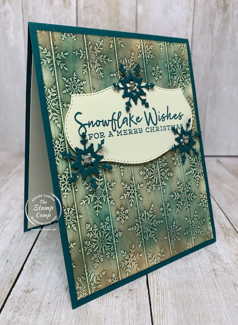 Tuesday's Tips and Techniques Faux Wood Carving technique. I came across this technique on Splitcoaststampers. They said to use a stencil but I used an embossing folder. I'm pretty pleased with the results. My faux wood doesn't look like wood colors but I like how it turned out anyways. Check out my blog here for details: https://wp.me/p59VWq-btb. #stampinup #technique #thestampcamp #embossing