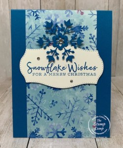 Snowflake Wishes Card/Gift Card Holder