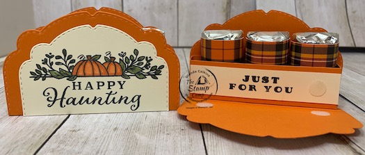 This week for Make It Monday I have this super cute treat holder created using the Celebration Tidings Bundle. You could create this treat holder for many different occasions. You could also make it a name place card for your Thanksgiving festivities. Details can be found on my blog here: https://wp.me/p59VWq-bxp. #stampinup #thestampcamp #celebrationtidings #treatholder