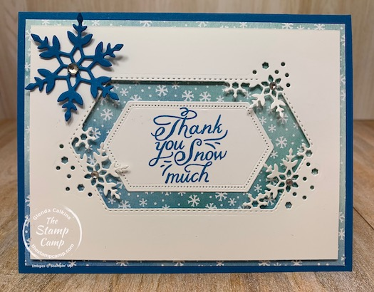 This is the final bonus card for this month featuring the Snowflake Wishes bundle. You can find all the details on all the PDF file options on my blog here: https://wp.me/p59VWq-byG. #stampinup #thestampcamp #snowflakewishes