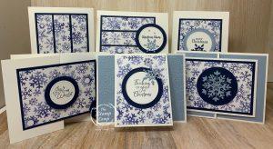 Snowflake Splendor One Sheet Wonder = 12 Cards