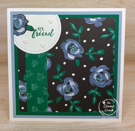 Saturday Sketch this week features the Flower & Field Designer Series Paper from Stampin' Up! The sketch is from Splitcoaststampers SC842. #thestampcamp #stampinup #saturdaysketch