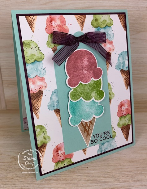 Are you ready for Summer? I know I sure am and this Sweet Ice Cream Bundle from Stampin' Up! has me thinking summer time fun! Great stamp set and punch to have for your summer scrapbook pages or cards. #thestampcamp #stampinup #summercards
