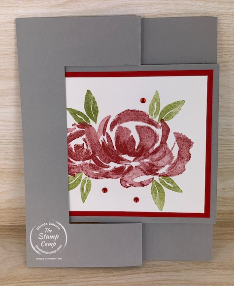 If you like movement cards you will love this flip flop fun fold card. I used the soon to be retired Beautiful Friendship stamp set for this quick and easy card. #thestampcamp #stampinup #funfoldfriday