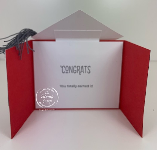 Fun Fold Friday Creating a Graduation Card like no other! This graduation card is super cute and easy to assemble. #thestampcamp #stampinup #graduation