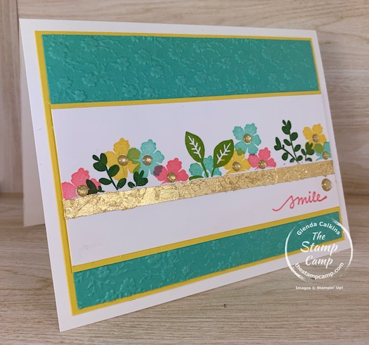 Have you given the Gilded Leafing Embellishments a try yet? This technique is super easy to give some sparkle, shine and a touch of Gold to your cards and projects. #thestampcamp #stampinup #cardtechniques