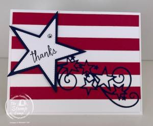 A Memorial Day Remembrance Featuring The Stitched Stars Dies Stampin' Up!