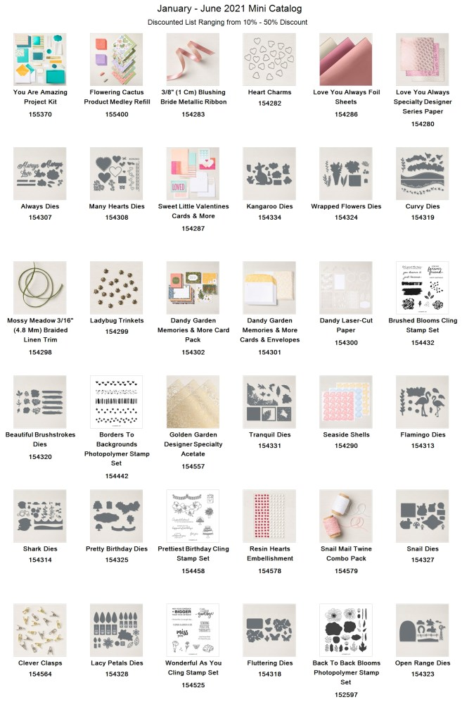 mini catalog discounted list