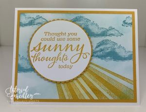 Stampin' Up! After the Storm Creates Some Sunny Thoughts!