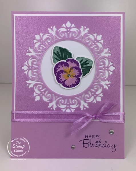 Pansy Patch Bundle with Encircled in Beauty dies