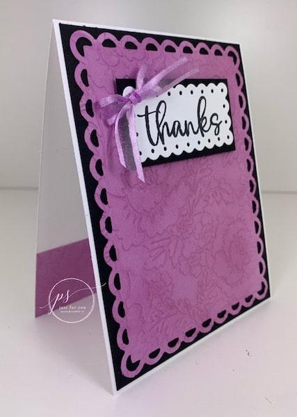 Scalloped Contour Dies; Pretty Flowers embossing folder