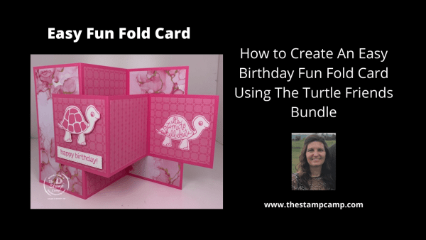 Fun Fold Card Turtle friends bundle