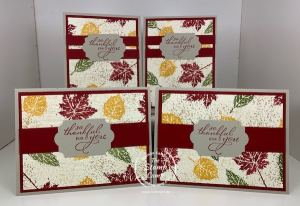 Create Your Own Designer Paper With The Gorgeous Leaves Stamp Set!