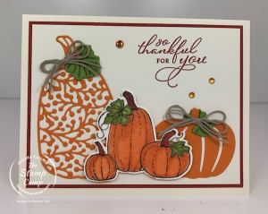 Another Stampin' Up! Pretty Pumpkins Card For You!