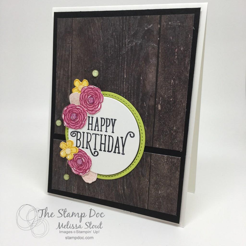 Woodgrain Happy Birthday Gorgeous