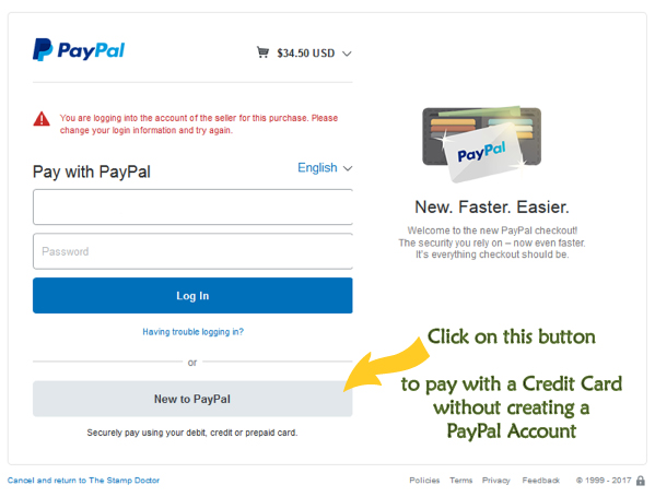 Payment Instructions for Credit Cards