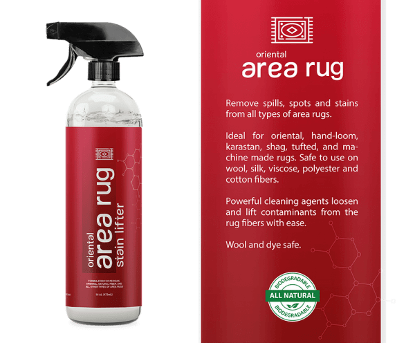 Stain Lifter area rug bottle and label